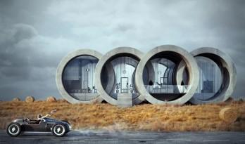 构想住宅:四环相扣,灵感源于奥迪LOGO / Wamhouse Studio