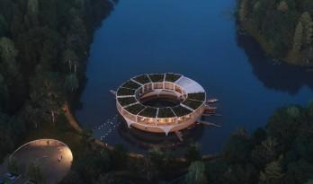"""森林湖泊上的""""渔船"""":Land Ahoy"""