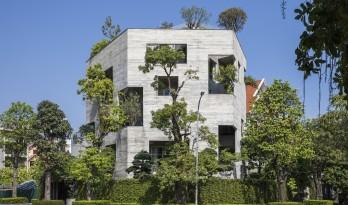 """居于丛林之间:越南""""五角平面""""树屋 / 武重义建筑事务所"""