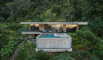 哥斯达黎加丛林中的艺术别墅度假屋