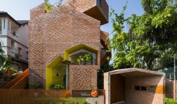 """犹如一座大型的砖砌""""乐高""""——越南幼儿园Chuon Chuon Kim 2"""