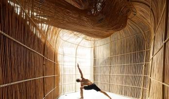曼谷Vikasa瑜伽总部,3D技术与本土手工艺的融合