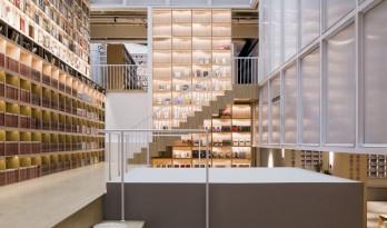 源平·美璟书店:隐秘在采光中庭中的书店 / 上海严旸建筑设计工作室
