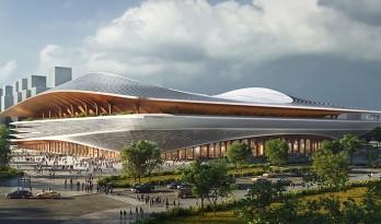 """扎哈事务所 & iDEA""""西安国际足球中心""""开建,为2023足球联赛亚洲杯场馆"""