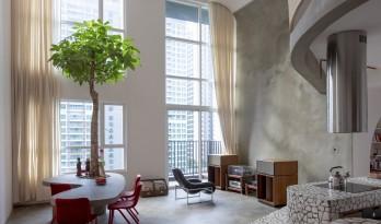 """胡志明市水磨石公寓""""Mài"""",以弧形几何形状定义空间 / Whale Design Lab"""