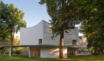 轻盈飞动,绕古树而生,温特视觉艺术楼 / 斯蒂文·霍尔建筑事务所
