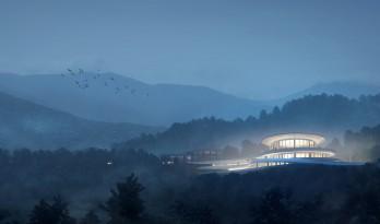 """""""融于自然,地景之上""""——江西虔心小镇展厅设计 / GWP Architects"""