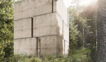 森林住宅,如巨石般厚重 / Marte Marte Architects
