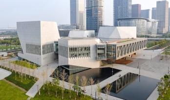 天津茱莉亚音乐学院,四个形状、大小不同多面体块的组合 / Diller Scofidio + Renfro