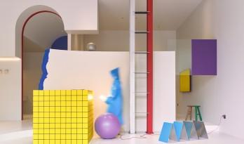本杰明·摩尔涂料金华体验中心,一场色彩爆发的随机空间实验/NDB Design新作