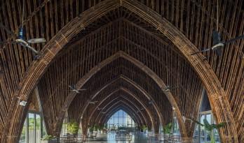 大跨度拱形竹梁,Casamia 社区之家 / VTN Architects