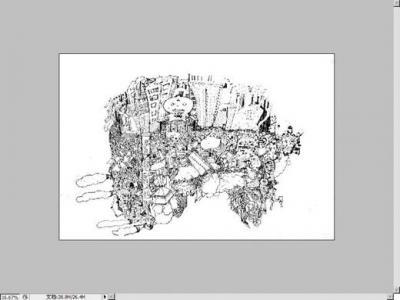 应用ps把手绘黑白线描稿调成直接能在电脑上色的图稿