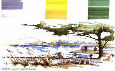 11 十二 上色, 手绘, 马克笔 建筑设计中,马克笔上色的一些技巧 我