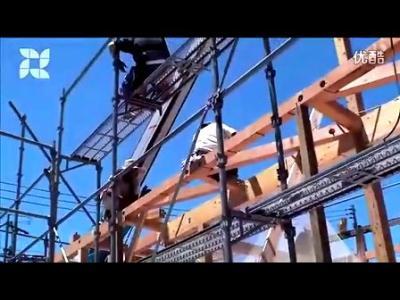 日本预制榫卯结构现代木建筑