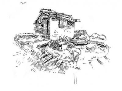 钢笔淡彩写生教程(四):透视练习