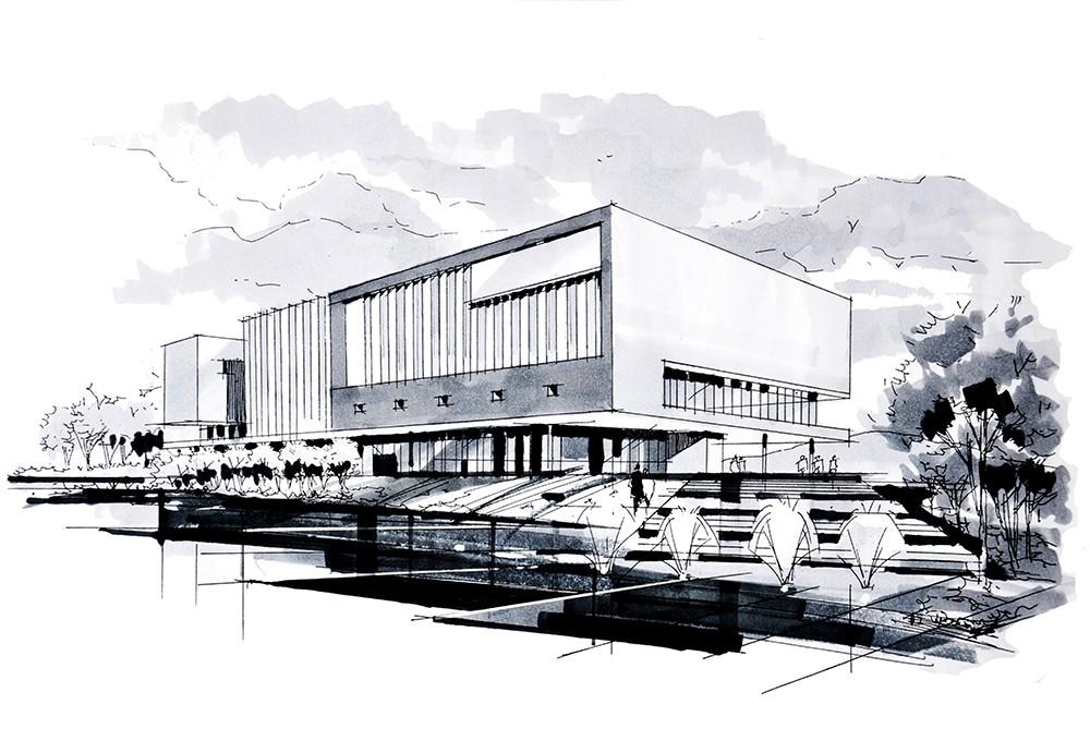 7图书馆建筑马克笔表现方法.jpg