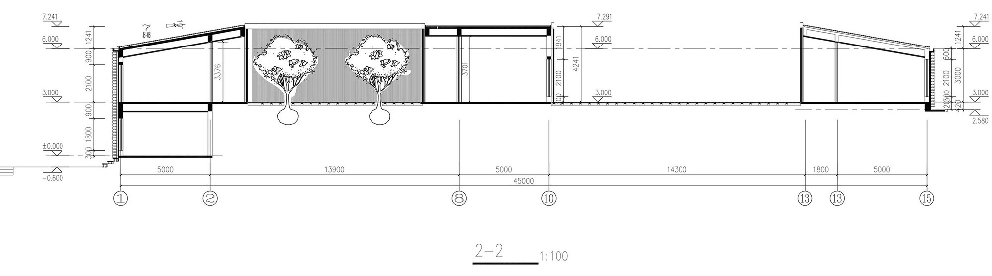 首层平面图 二层平面图 项目信息 建筑设计事务所:李晓东工作室 基地
