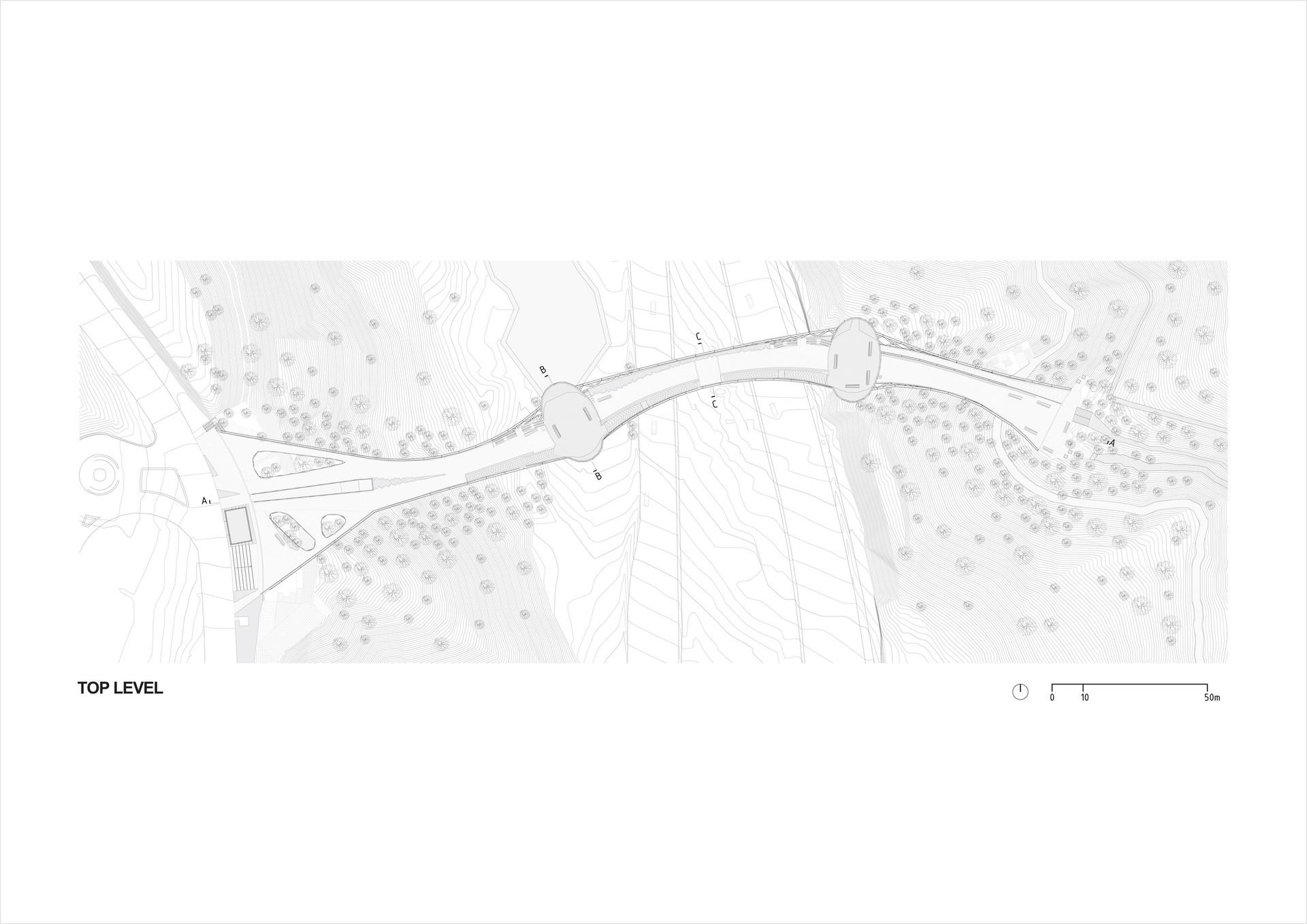 建筑手绘线稿俯视图