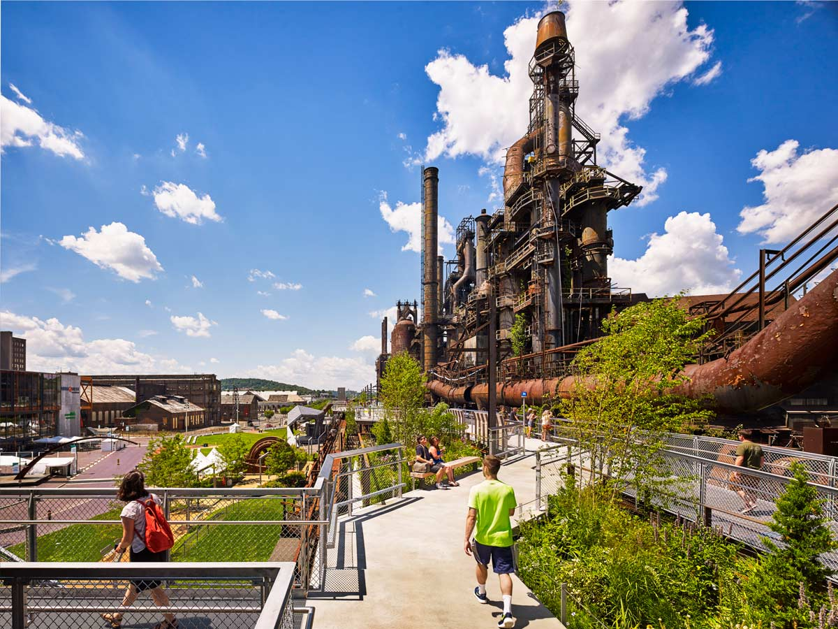 圆形建筑平面图_SteelStacks艺术文化园区——现实版的机械迷城 | 建筑学院
