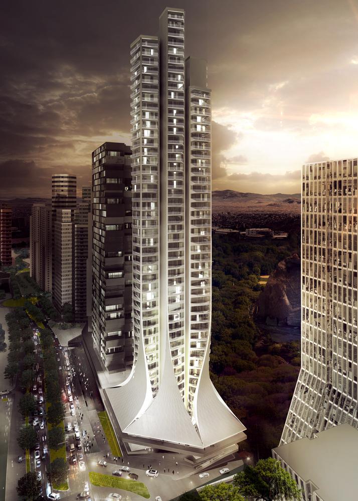 旋转的裙摆——墨西哥最高住宅 / 扎哈哈迪德建筑事务所