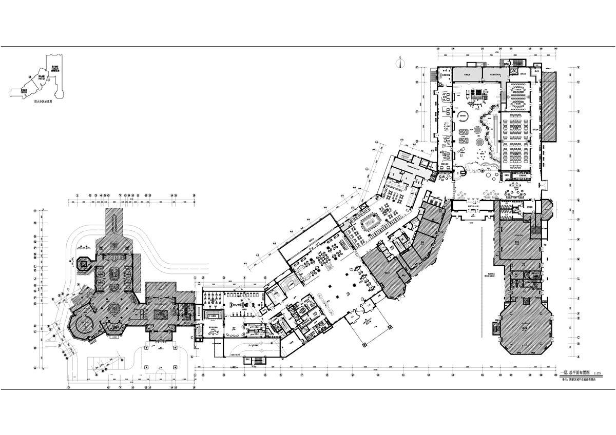 酒店客房流线平面图