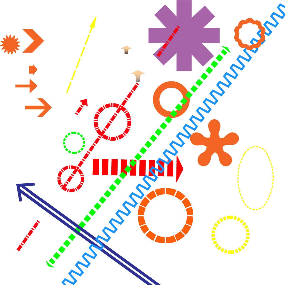 都是分析图常用素材 比如一些圈圈,箭头.
