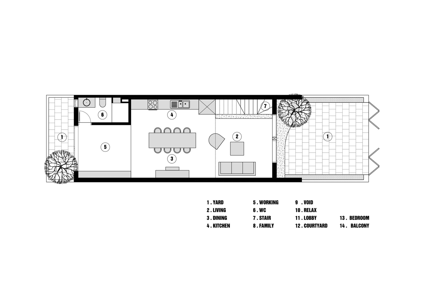 v面积灰面积,将仅5x12m的空间内变成宽广的家图纸样机械图片