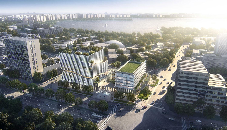 国际设计竞赛揭晓 / 漫游于一条盘旋而上的室外公共坡道 —— 临港