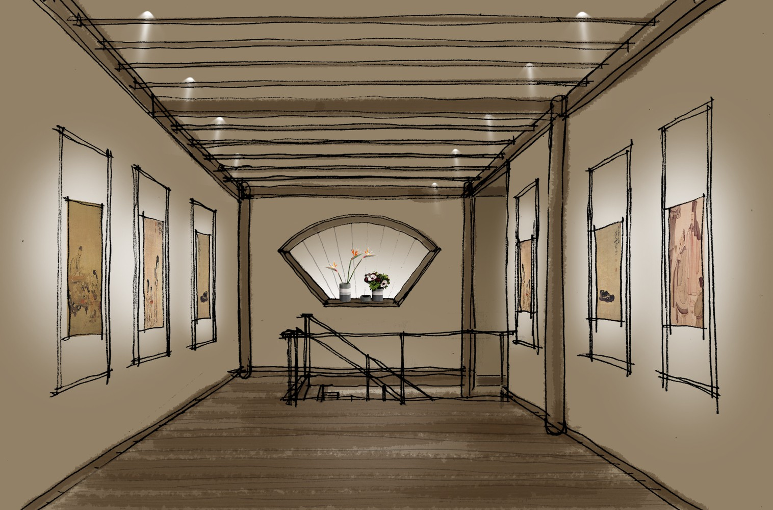 一层平面图 项目信息 室内设计:上海善祥建筑设计 地址:美术馆3楼