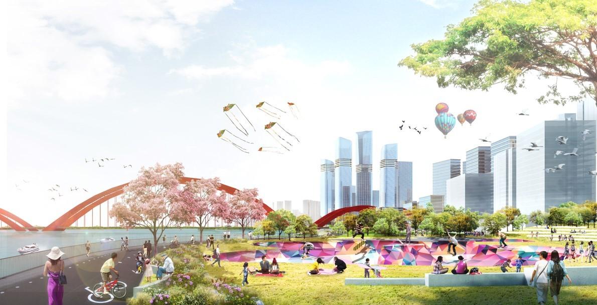 广州CBD南区出现新城市景观,由德国安博戴水道+庄子玉工作室联合打造大湾区新门户