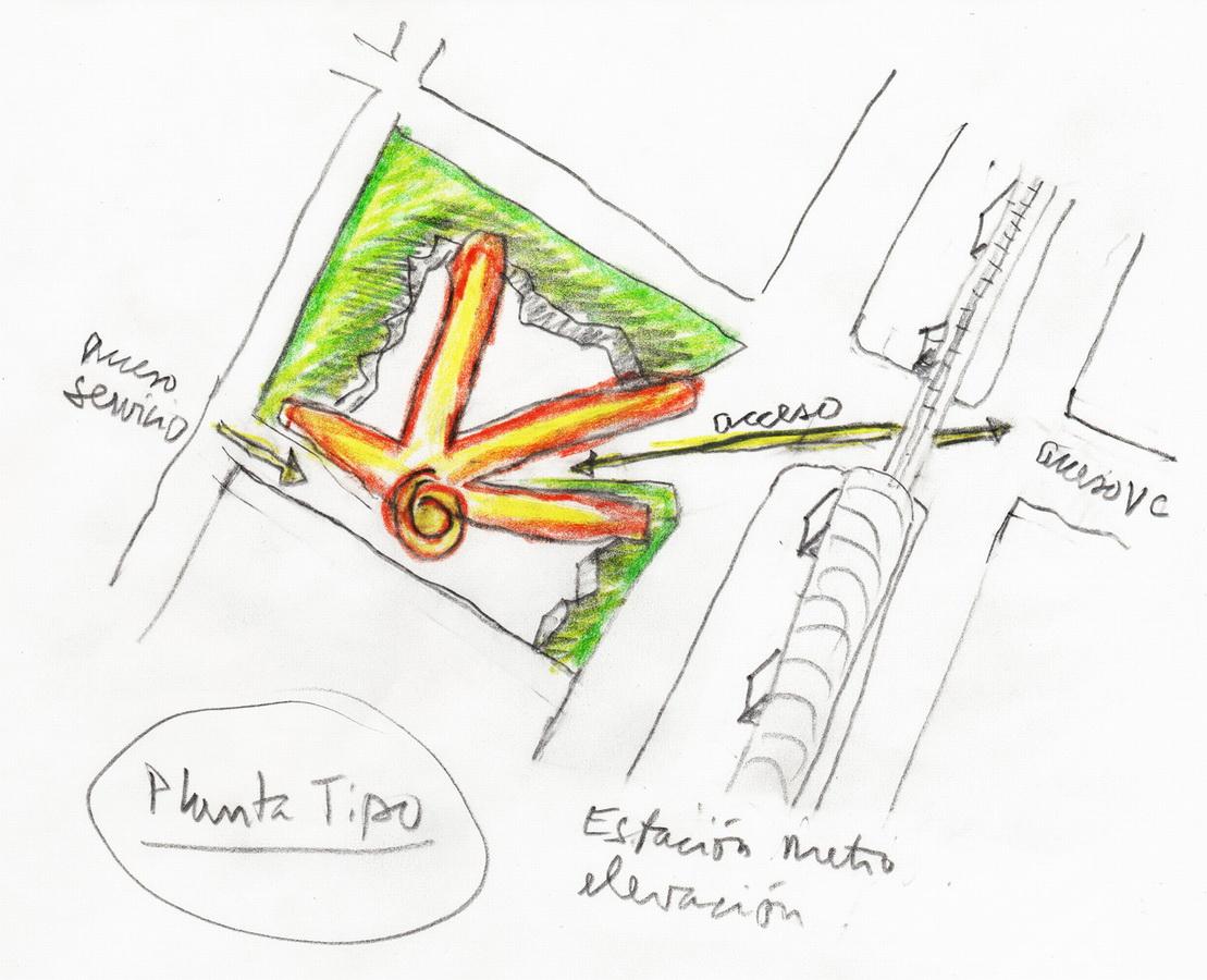 """这些建筑内的""""手指""""坡道和走廊形式的建筑结构其实是由经济性和灵活"""