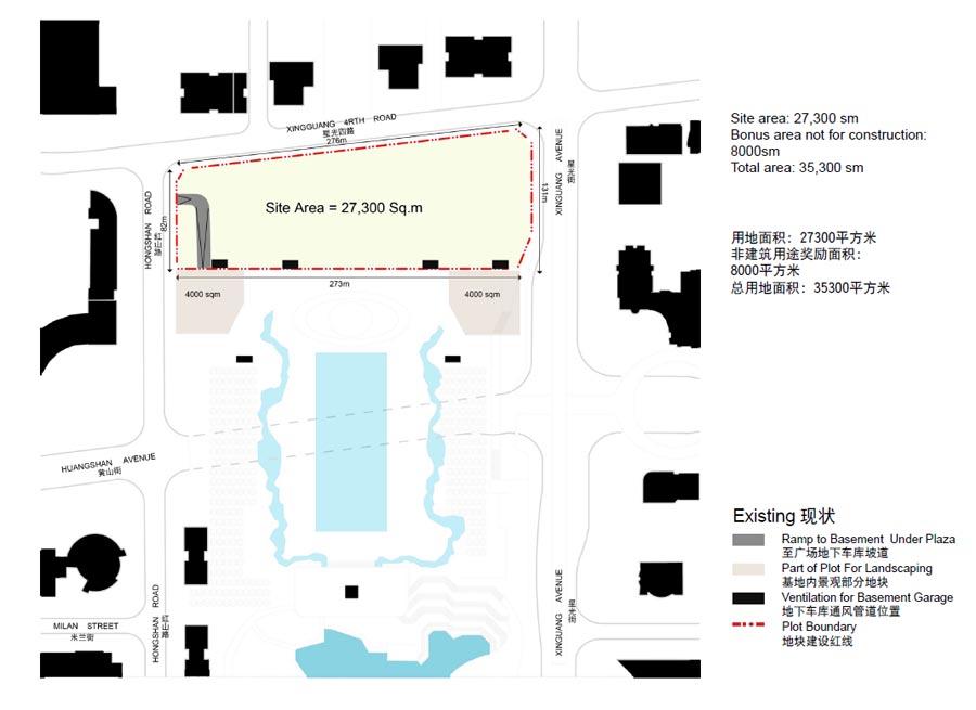 重庆高科集团有限公司办公楼,中国重庆, by Aedas_09_所在地块.jpg
