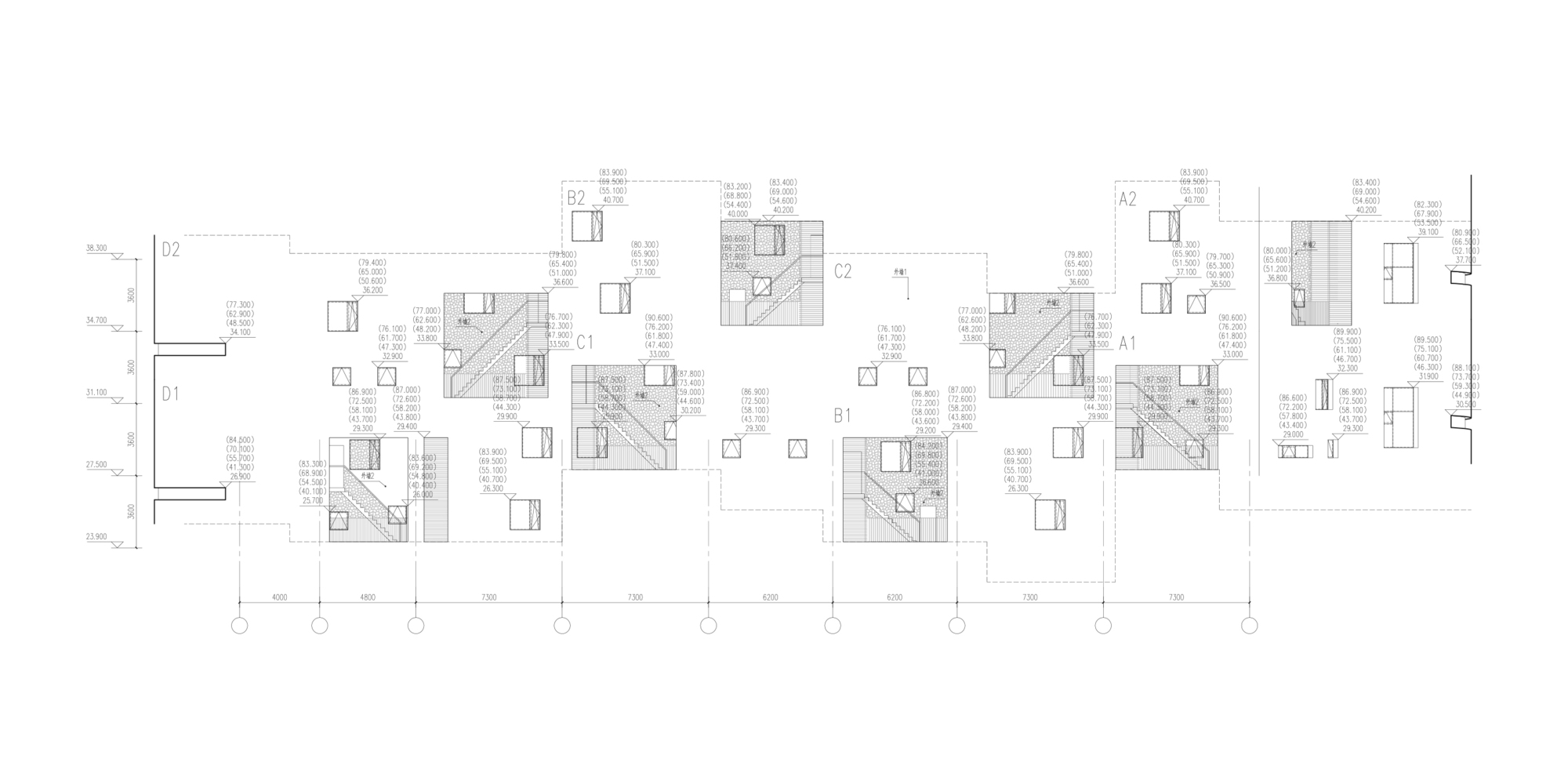 25_北立面局部放大图(复式单元错层错位分布)detail_of_north_elevation_(the_split-leveled_and_staggered_layout_of_duplex_units).jpg