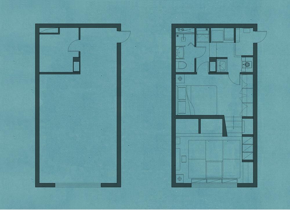 方寸间造高低宅:高老师家2# / 金秋野建筑工作室